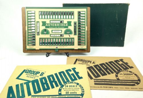 Vintage Bridge Card / Board Game Very Rare In Original Box Autobridge
